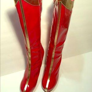 Red Women's Superhero Star Boots